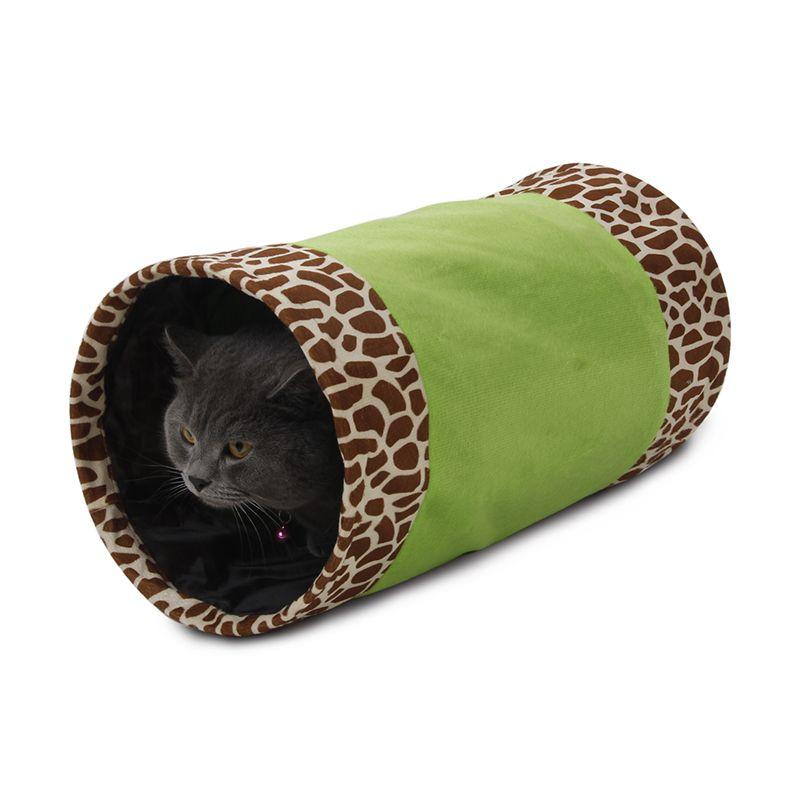 Тоннель для кошек MAJOR шуршащий зеленый 25х50см, полиэстер