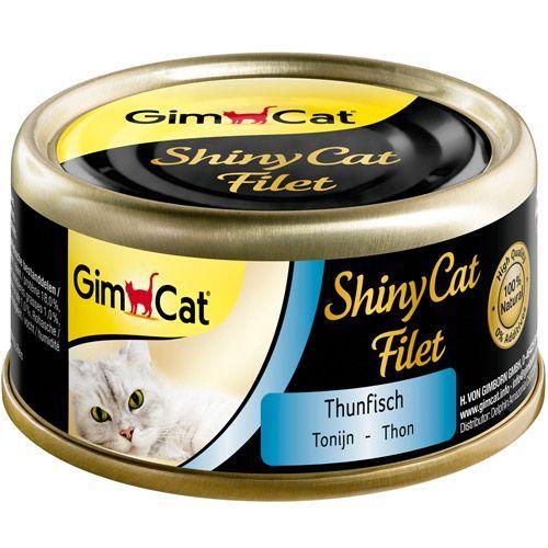Фото - Корм для кошек GIMPET Shiny Cat Filet тунец конс. пауч 70г корм для кошек monge cat natural тунец с курицей иговядиной конс