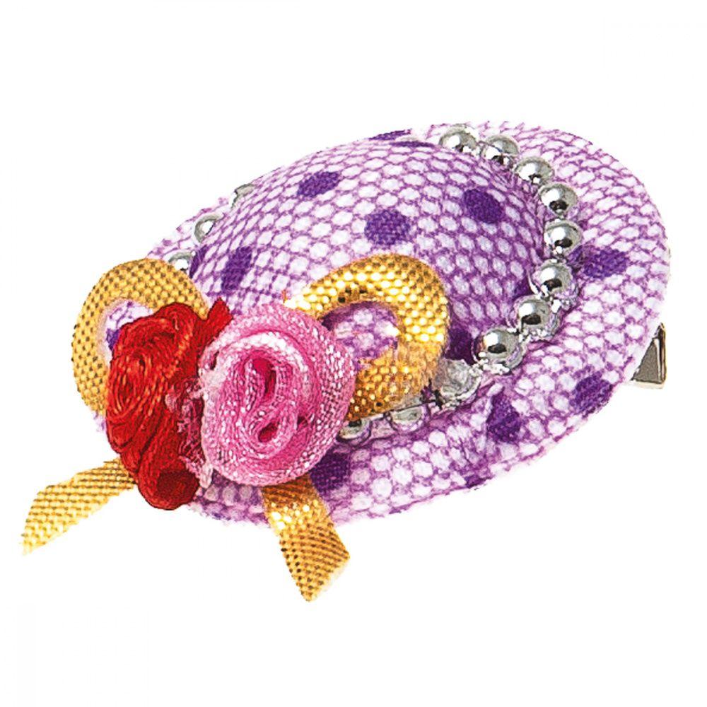 Заколка-шляпка V.I.PET Ностальжи  3,5см сиреневая