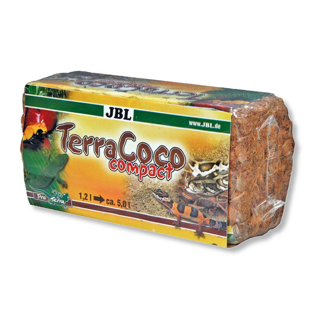 Субстрат JBL TerraCoco Compact Натуральная кокосовая стружка, спрессованная в брикет, 500г