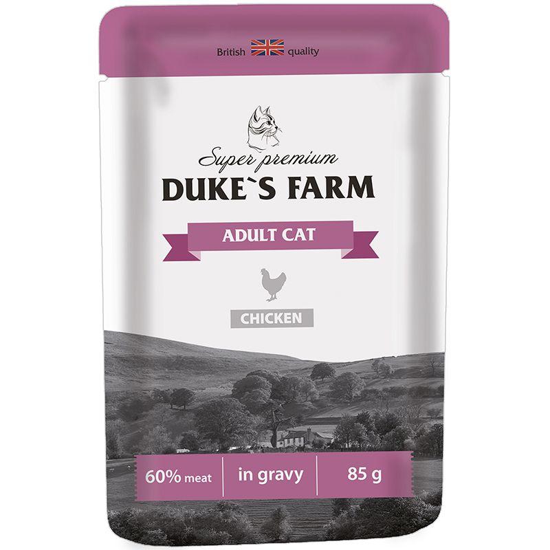 Корм для кошек DUKE'S FARM курица конс. пауч 85г