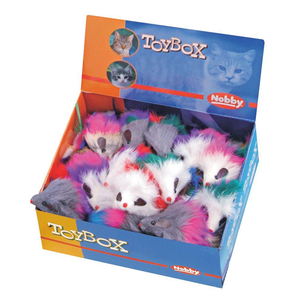 Игрушка для кошек Nobby 80121 Мышка с перьями 7,5см
