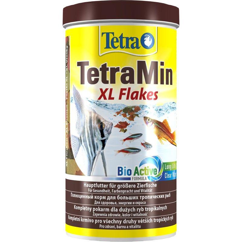 Корм для рыб TETRA Min XL для всех видов рыб, крупные хлопья 1000мл корм для крупных декоративных рыб tetra min xl granules