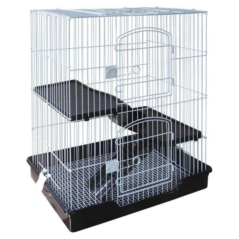 Клетка для мелких животных TRIOL белая 610х460х770мм