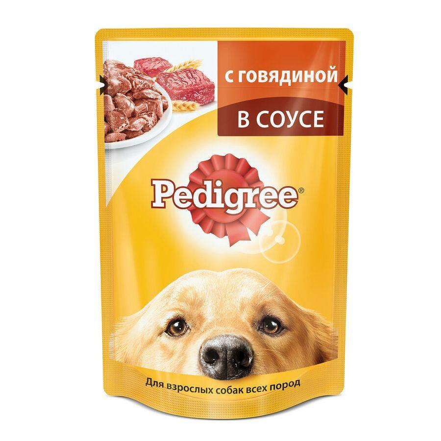 Корм для собак Pedigree Говядина конс. 100г корм для собак pedigree кролик индейка конс 100г