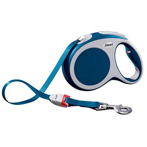 Рулетка для собак Flexi Vario L до 60 кг, 5м лента, синяя flexi flexi мультибокс vario s m l синий