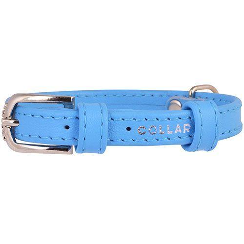 Ошейник для собак COLLAR Glamour без украшений 12мм 21-29см синий фото