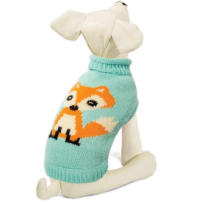 Свитер для собак TRIOL Лисичка L, мятный, размер 35см