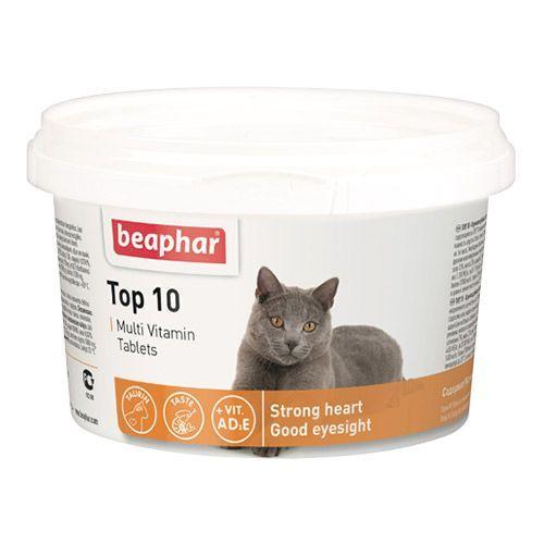 Витамины для кошек Beaphar Тор10 180шт