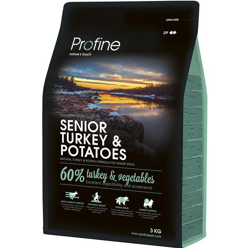 Корм для собак PROFINE для пожилых индейка, картофель сух. 3кг