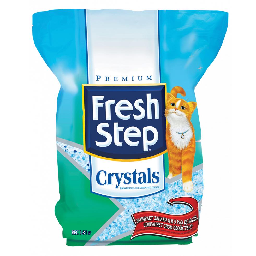 Наполнитель для кошачьего туалета Fresh Step силикагелевый впитывающий 1,81кг