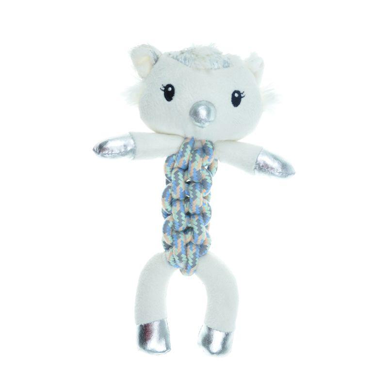 Игрушка для собак CHOMPER Let It Snow Сова с плетеным туловищем и пищалкой 25 см