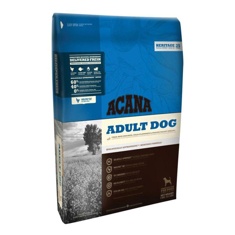 Корм для собак ACANA Heritage цыпленок с зеленью (60/40) сух. 6кг