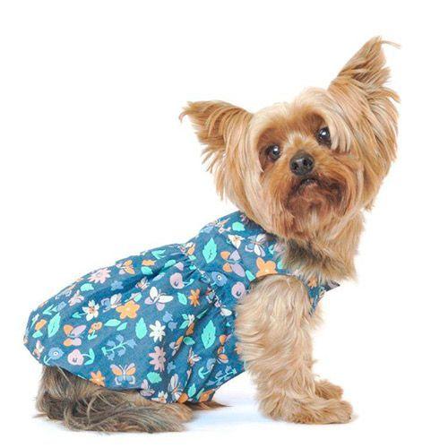 Фото - Платье для собак YORIKI Колокольчик девочка размер XL 33см платье oodji ultra цвет бирюзовый 14011005 3b 46148 7300n размер xl 50