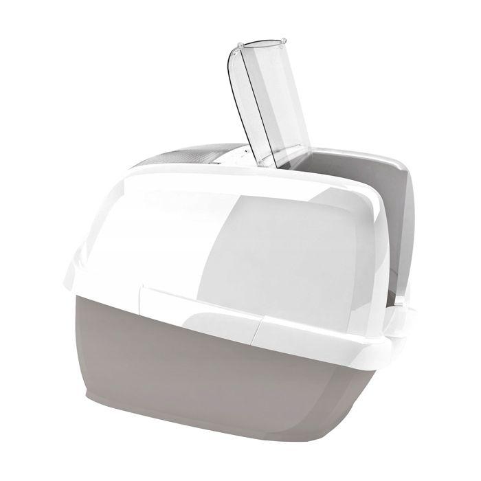 Туалет для кошек IMAC Maddy закрытый, бежево-серый 62х49,5х47,5см цена и фото