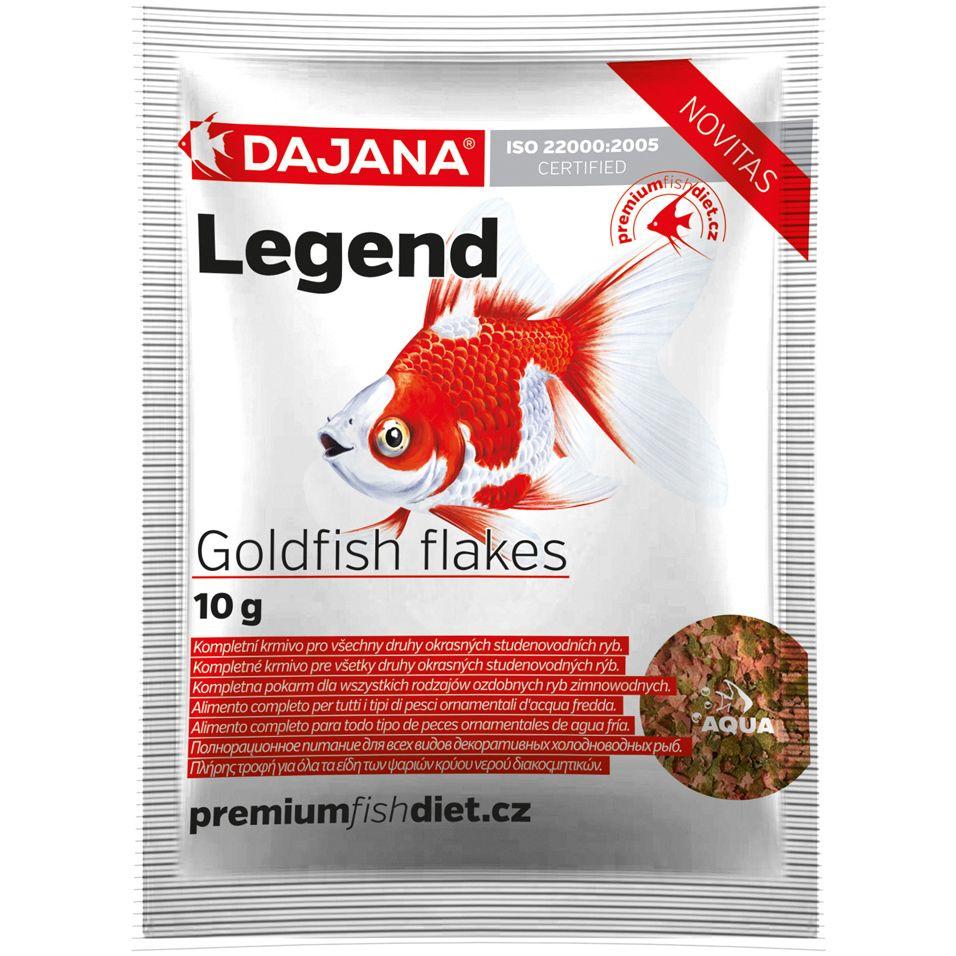Корм для рыб DAJANA Legend Goldfish Flakes хлопья 10г (80мл) п/т захват для бочек able vld г п 1 0 т