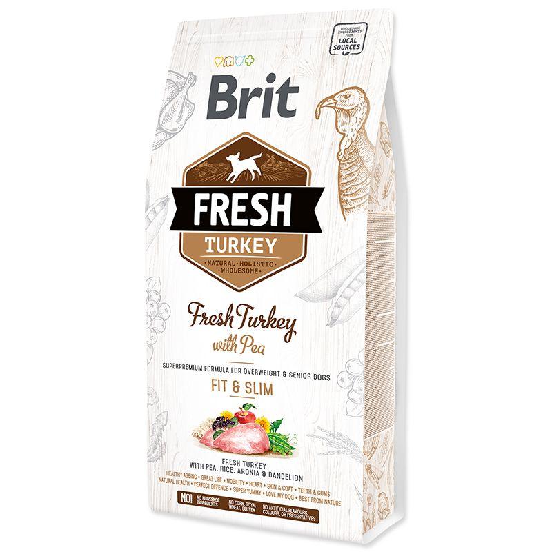 цена на Корм для собак Brit Fresh Индейка с горохом для контроля веса сух. 2,5кг