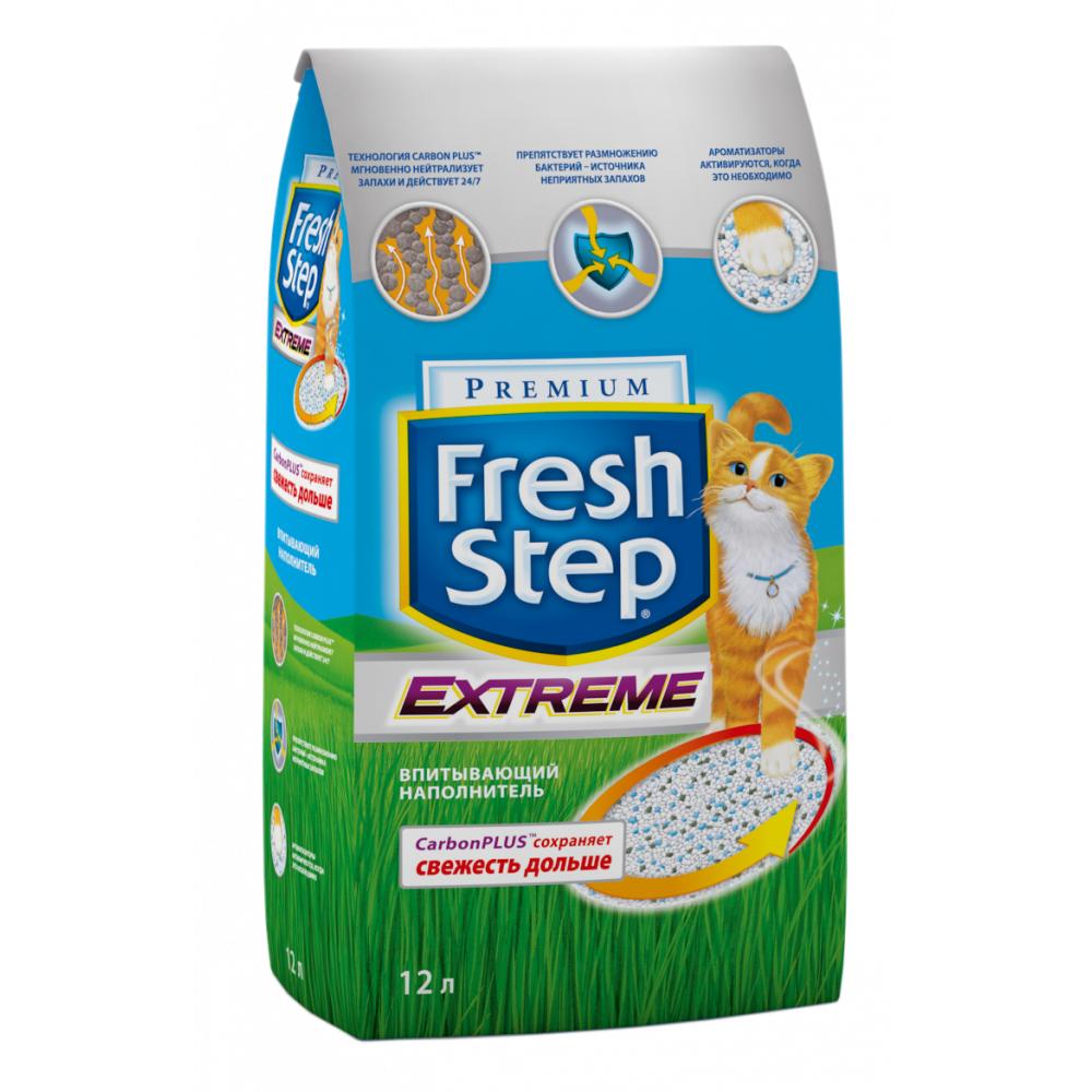 Наполнитель для кошачьего туалета Fresh Step с тройным контролем запаха впитывающий 12 литров