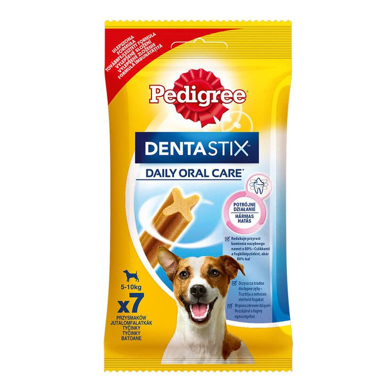 Лакомство для собак Pedigree Denta Stix Пластинки для снятия зубного камня у мелких собак 110г