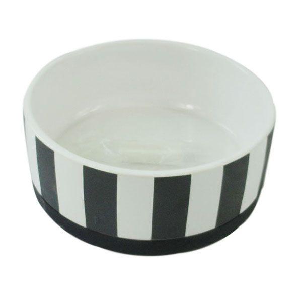 Миска для животных Foxie Stripes белая керамическая 13х5,5 см 400мл недорого