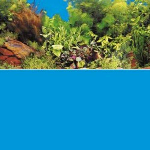 Фон для аквариума HAGEN двухсторонний скалисто-растительный/голубой 45см (цена за 10см)