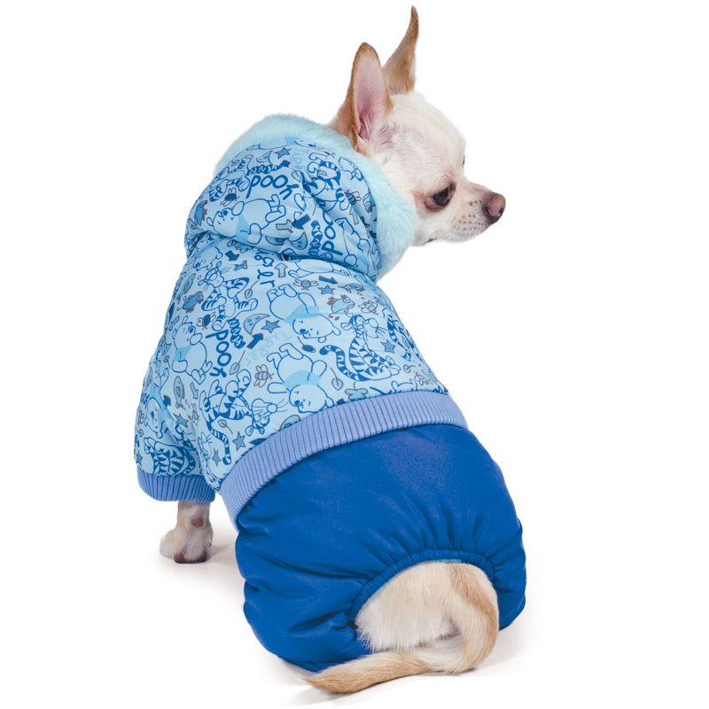 Комбинезон для собак TRIOL Disney Winnie-the-Pooh зимний Blue L, размер 35см triol triol disney winnie the pooh толстовка для собак сладкие приключения xs