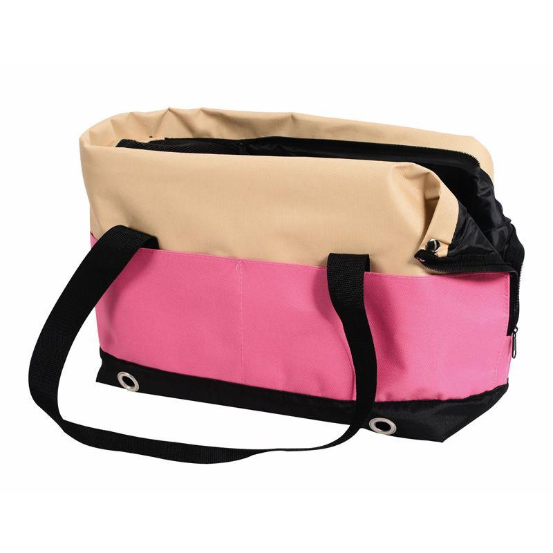 Сумка-переноска для животных Nobby Salta 40х22х28см бежевая/розовая сумка переноска для животных foxie colour 37х22х21см розовая