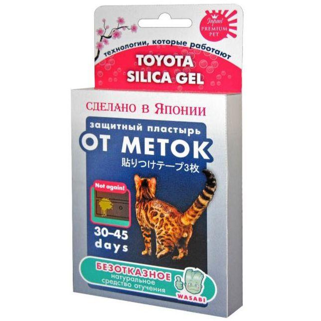Защитный пластырь Japan Premium Pet Toyota Silika Gel «От меток», натуральное средство отучения