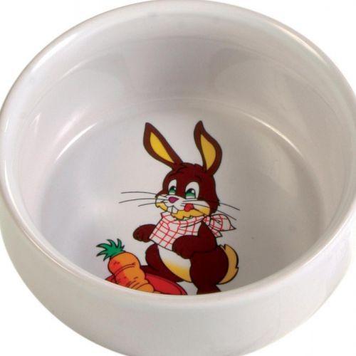 Миска для грызунов TRIXIE для кроликов 2400мл ф11см керамическая trixie миска trixie для кошек двойная пластмассовая 2х0 2 л ø11 см