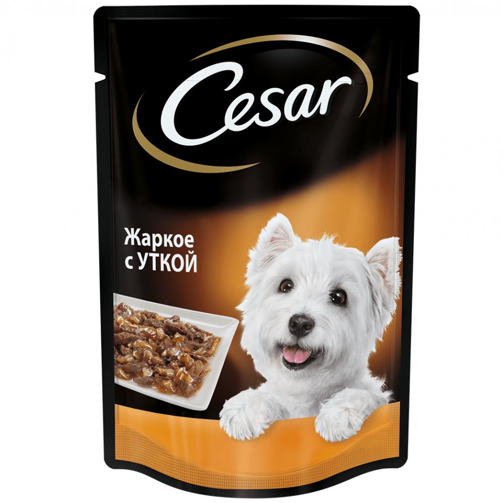 цена на Корм для собак Cesar жаркое с уткой пауч 100г