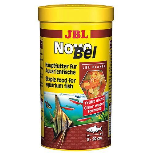 Корм для рыб JBL NovoBel основной в форме хлопьев для всех аквариумных рыб, 250мл. (40г) корм для рыб jbl novogranocolor основной в форме гранул для яркой окраски рыб в банке 250мл 120г