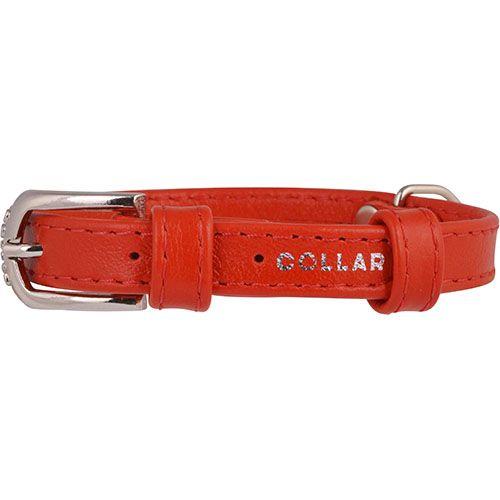 Ошейник для собак COLLAR Glamour без украшений 12мм 21-29см красный