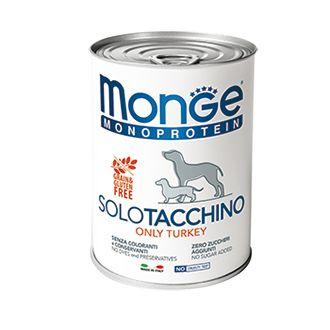 Корм для собак Monge Dog Monoproteico Solo паштет из индейки конс. 400г паштет le pere nagy риет из индейки 180 г