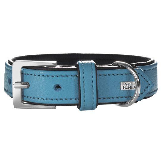Ошейник для собак HUNTER Capri 60 (46-52см) натуральная кожа бирюзовый/черный
