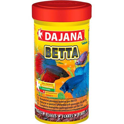 Корм для рыб DAJANA Betta хлопья 100мл dajana корм для рыб dajana legend mini granules мини гранулы 100мл