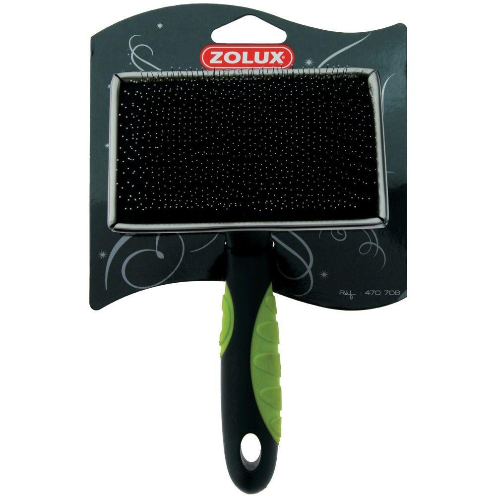 Пуходерка ZOLUX с каплей большая плоская салат. ручка расческа для животных зооник пуходерка большая с каплей 0724