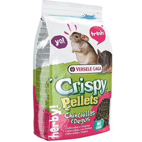 Корм для грызунов VERSELE-LAGA Crispy Pellets Chinchillas & Degus для шиншилл и дегу гранулированный 1кг
