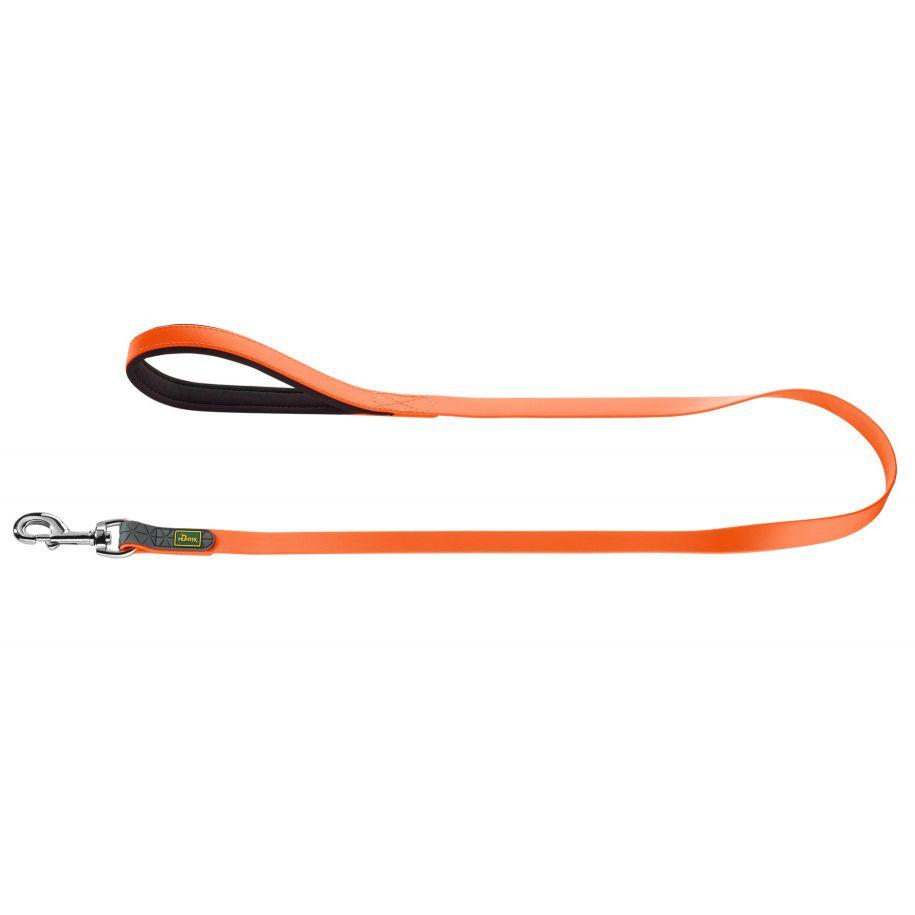 Поводок для собак HUNTER Convienience 15/120 биотановый оранжевый неон фото