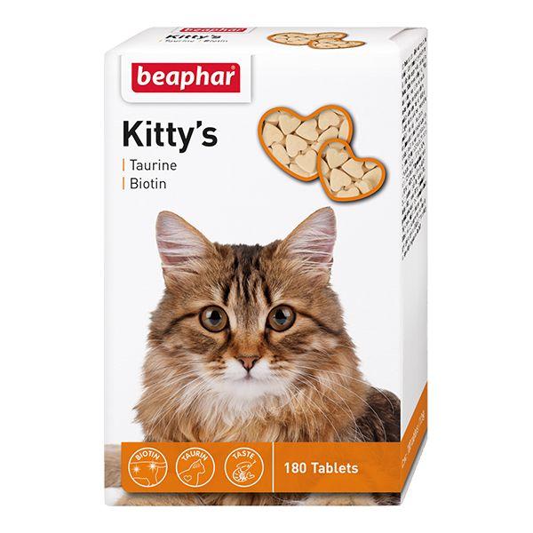 Фото - Витамины для кошек Beaphar Kitty's+Taurine+Biotin таурин+биотин 180шт салемские ведьмы 2019 05 31t19 00