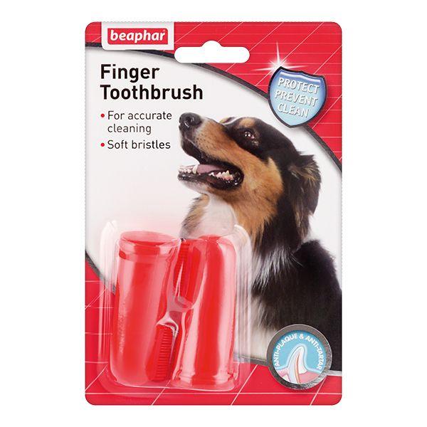 Зубная щетка для собак Beaphar двойная на палец