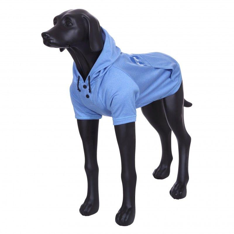 Толстовка для собак RUKKA Thrill Technical Sweater голубая размер S 27см