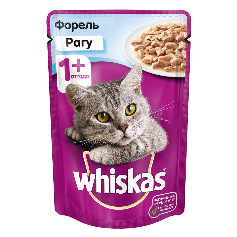 Корм для кошек Whiskas рагу с форелью конс. 85г