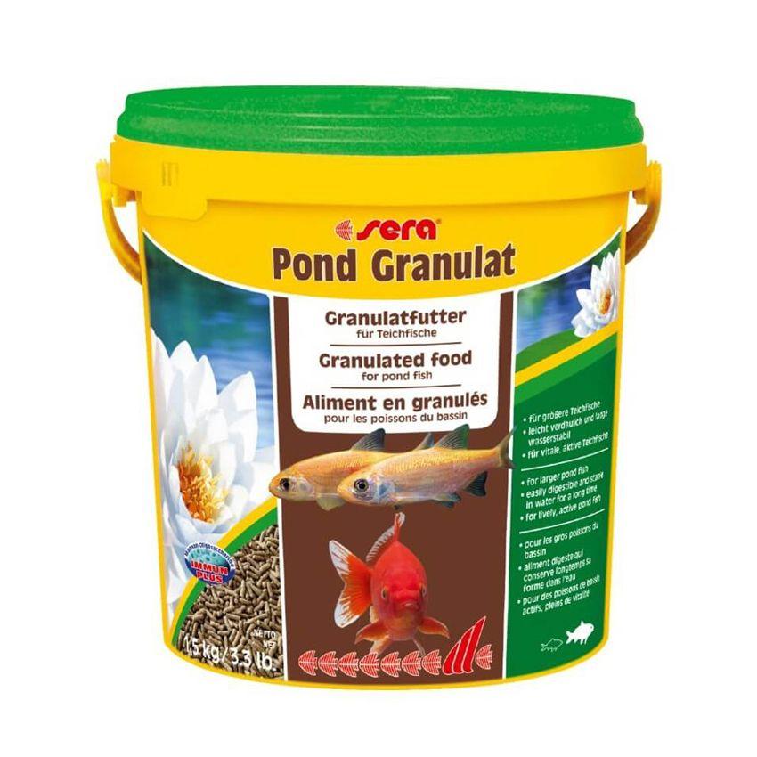 Корм для рыб SERA для прудовых рыб Pond Granulat 10л (1,5кг) ведро