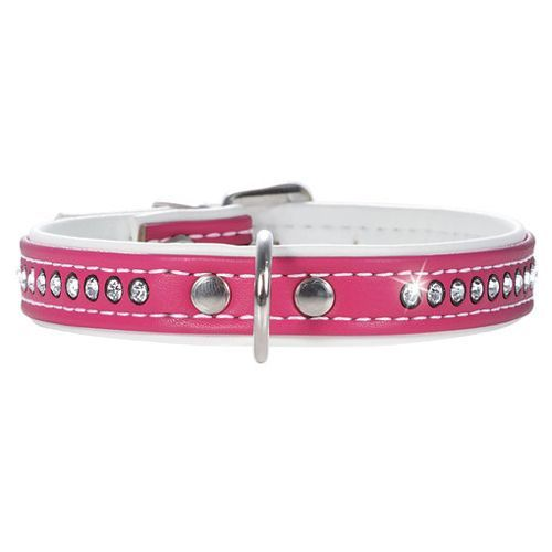 Ошейник для собак HUNTER Modern Art Luxus 37/13 кожзам ярко-розовый 28-33,5см