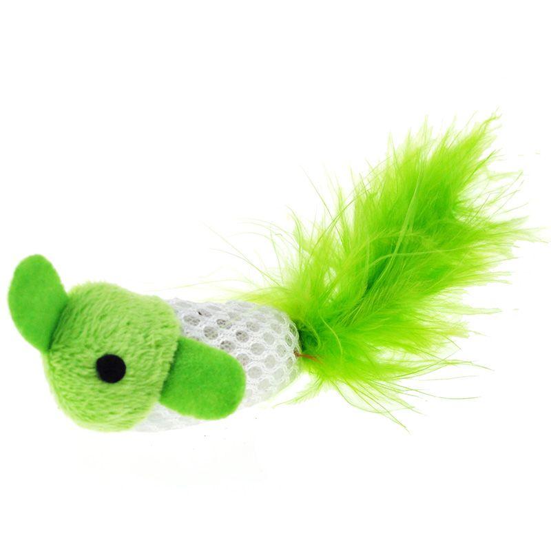 Игрушка для кошек CHOMPER Bright Набор Рыбки с хвостом из пера 2шт. с кошачьей мятой