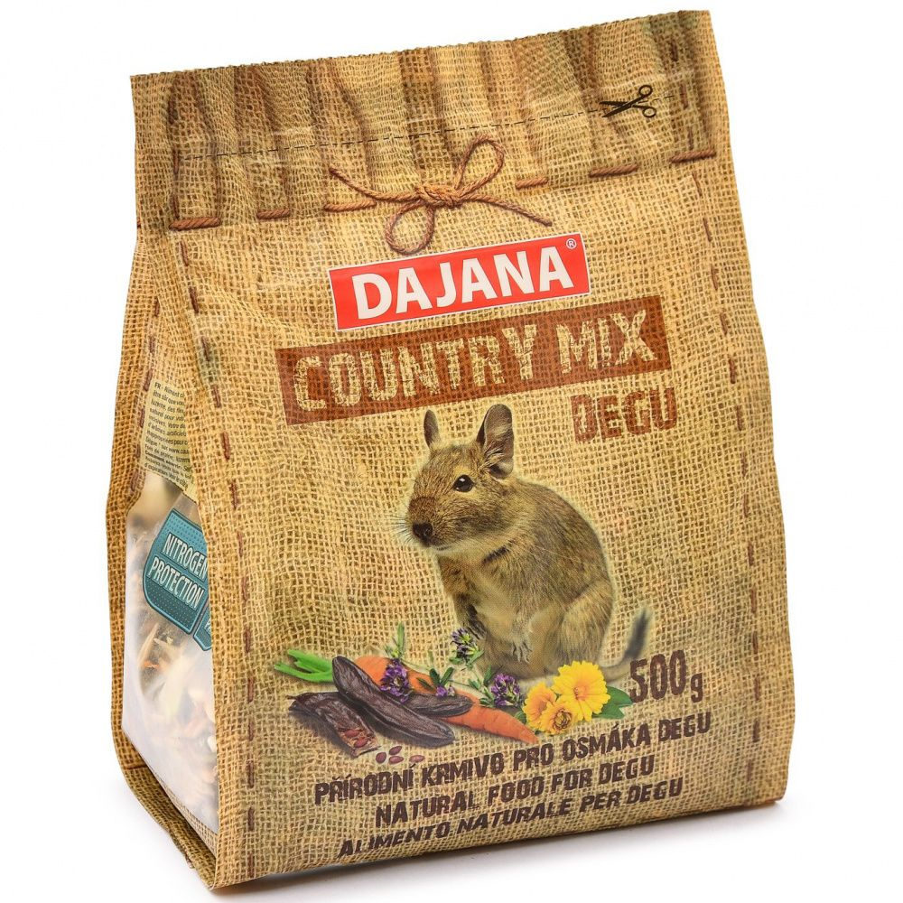Фото - Корм для грызунов DAJANA Country Mix для дегу сух. 500г корм для грызунов vitakraft для дегу сух 600г
