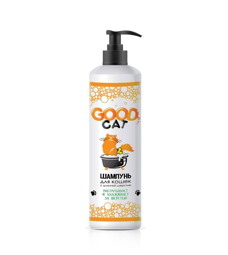 Шампунь для кошек GOOD CAT&DOG с длинной шерстью, распутывает и ухаживает 250мл