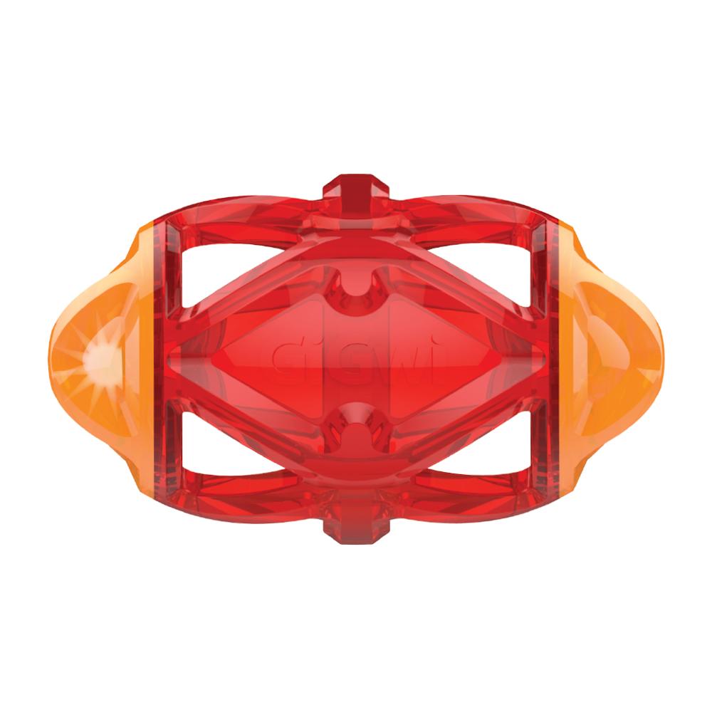 Игрушка для собак GIGWI Edge Flash Регби-мяч светящийся 15см