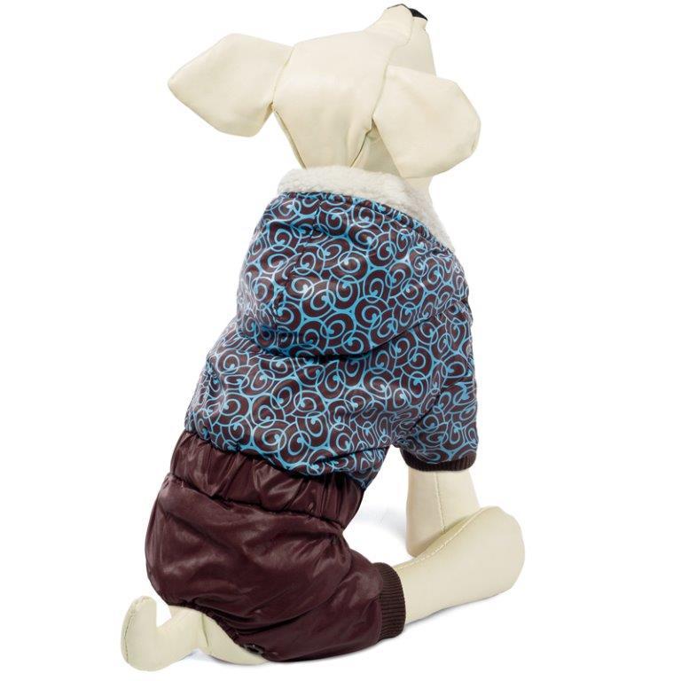 Комбинезон для собак TRIOL зимний Узоры S, размер 25см