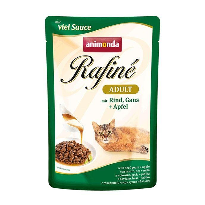Фото - Корм для кошек Animonda Rafin Soup коктейль из говядины, мяса гуся и яблок конс. 100г корм для кошек animonda rafin soup коктейль из индейки телятины и сыра конс 100г